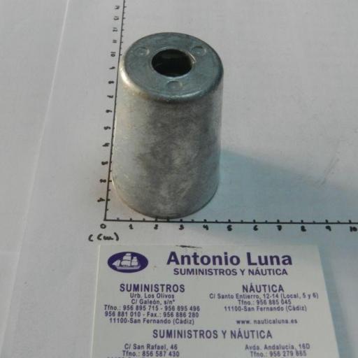 Ánodo de zinc radice para ejes de 35 mm Tecnoseal
