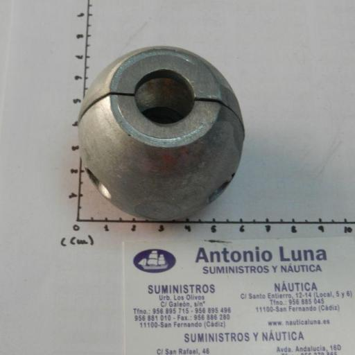 Ánodo de zinc collarín de eje de 28 mm Tecnoseal