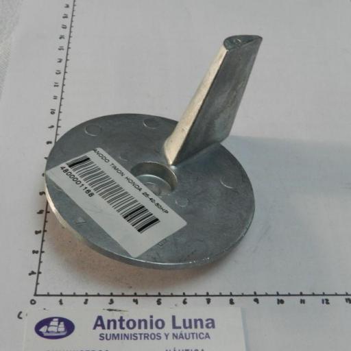 Ánodo de zinc (equivalente 41107-ZV5-000 Honda) Tecnoseal