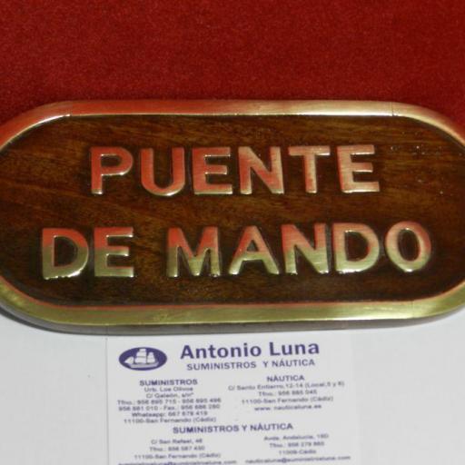"""Placa decorativa """"PUENTE DE MANDO"""""""
