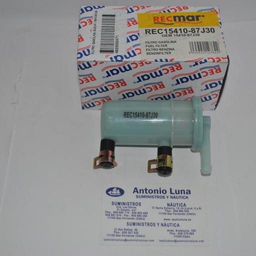 Filtro de combustible RecMar (equivalente) 15410-87J30