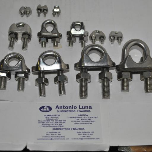 Sujetacables de acero inoxidable AISI-316