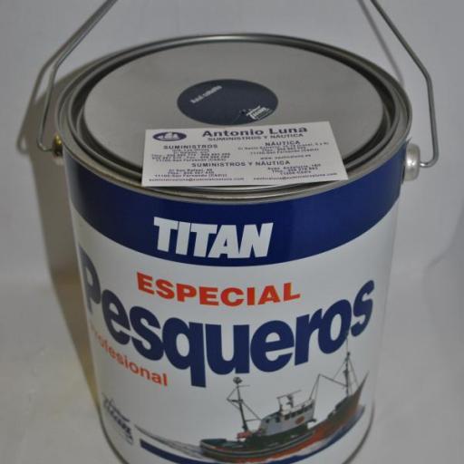 Esmalte pesqueros azul cobalto 4 lts Titan