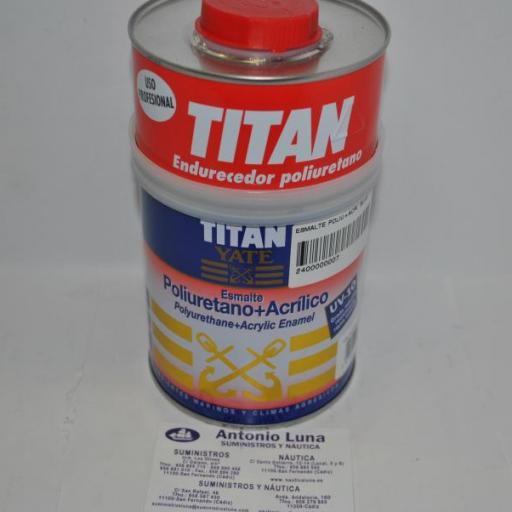 Esmalte poliuretano+acrílico blanco satinado 750ml Titan Yate [0]