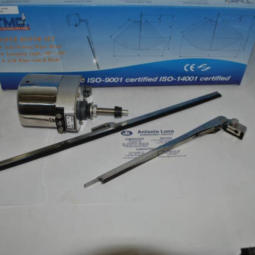 Limpiaparabrisas completo TMC-00802 (motor+brazo+escobilla) 12V TMC