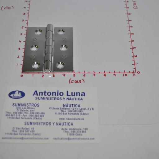 Bisagra fija de acero inoxidable-304 brillo de 60 x 50 x 2,0 mm mod.146/228 Pons Lim