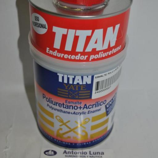 Esmalte poliuretano+acrílico blanco satinado 750ml Titan Yate [1]