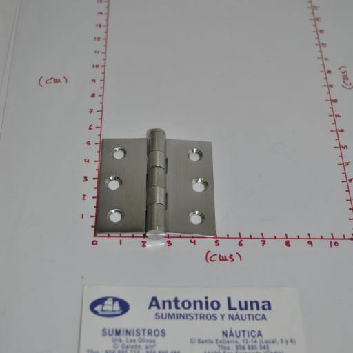 Bisagra desmontable de acero inoxidable-304 satinado (tipo libro) de 50 x 50 x 1,5 mm mod.134/176 Pons Lim