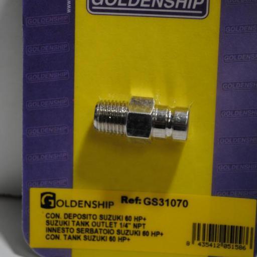 Conector macho para depósitos (equivalente Suzuki 65740-95D01-00) Goldenship