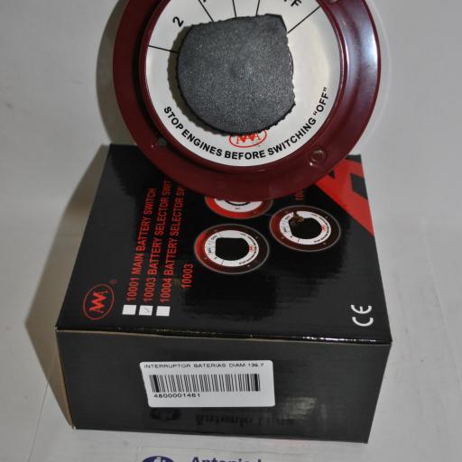 Selector/Desconectador de baterias 12V 250A rojo AAA