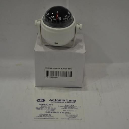 Compás de consola blanco 55 mm Globalnautic