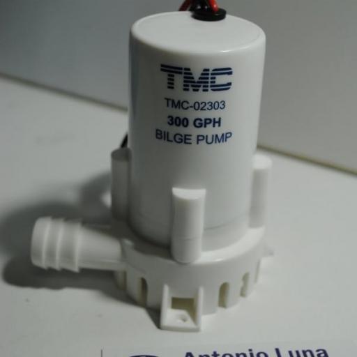 Bomba de achique sumergible 12V 300GPH (1135 litros/hora) TMC