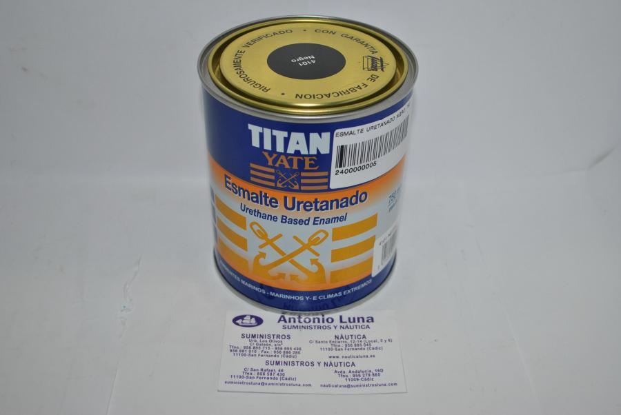 Esmalte uretanado negro 750ml Titan Yate