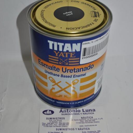 Esmalte uretanado negro 750ml Titan Yate [1]