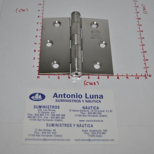 Bisagra desmontable de acero inoxidable-304 mate (tipo libro) de 76x 76 x 2.0 mm mod.2010 Amig
