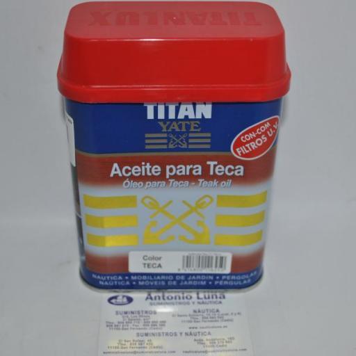 Aceite para teca Titan Yate 750 ml.(color teca)
