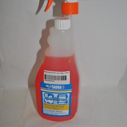 Desoxidante anti-cal en spray 750 ml Sadira