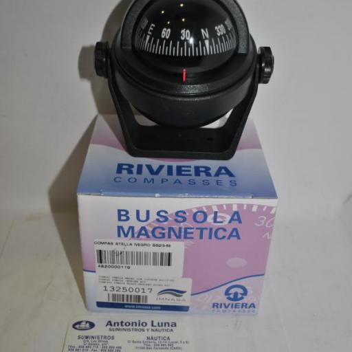 Compás negro con soporte Stella BS2 Riviera