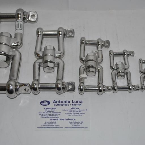 Sacavueltas (quitavueltas o giratorio) grillete-grillete de acero inoxidable AISI-316 [0]