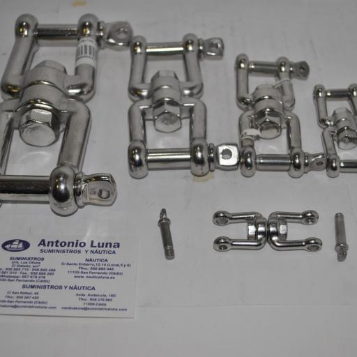 Sacavueltas (quitavueltas o giratorio) grillete-grillete de acero inoxidable AISI-316 [2]