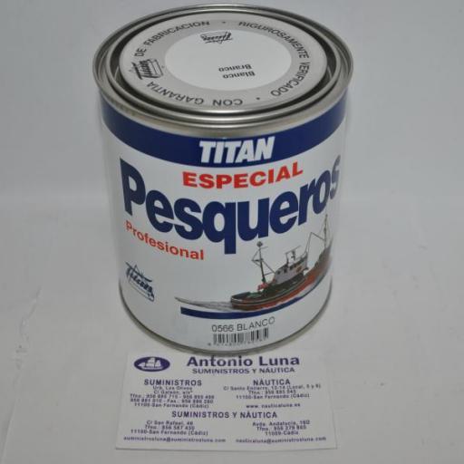 Esmalte pesqueros blanco 750ml Titan