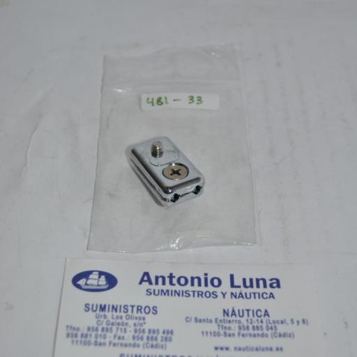 Mordaza sujetacables de zinc cromado para cables de 3-5 mm Goldenship