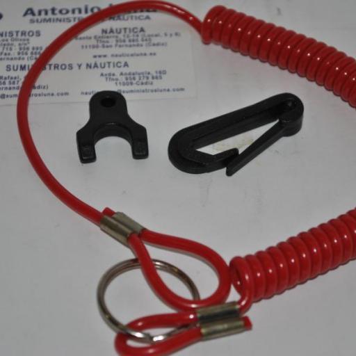 Clip de seguridad Tohatsu con cordón (Hombre al agua) Nuova Rade