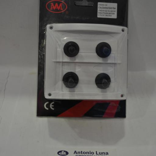 Panel eléctrico blanco estanco de 12V de 4 interruptores AAA