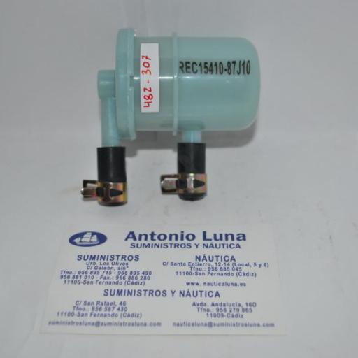 Filtro de combustible RecMar (equivalente) Suzuki 15410-87J10