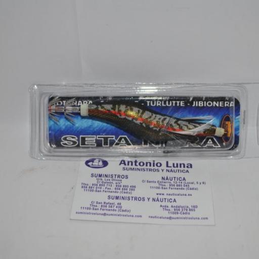 Jibionera Squid Jig 3.0 9cms. negra Lineaeffe