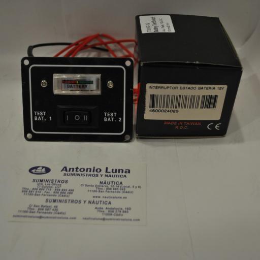Panel con interruptor 12V para estado de la bateria 70060-12 AAA