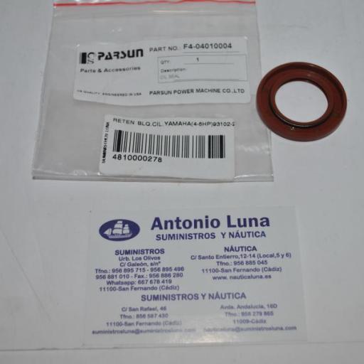 Retén de aceite del cilindro (equivalente 93102-25090 Yamaha) Parsun
