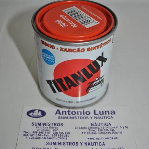 Minio sintético naranja 125 ml Titanlux