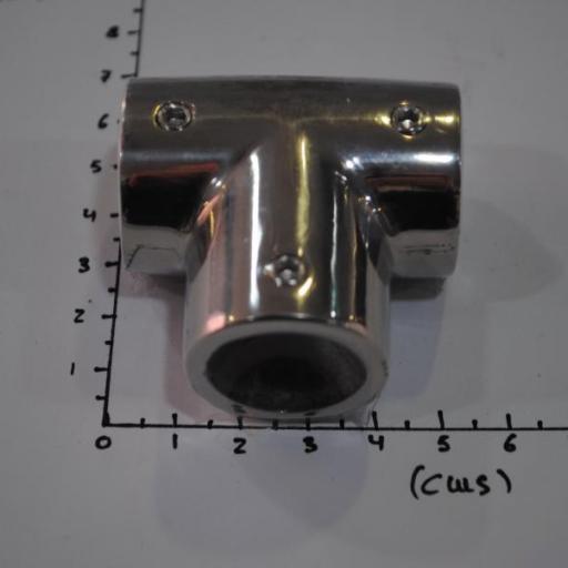 Unión en forma de T recta 90º inox-316 para tubo de 22 mm Goldenship