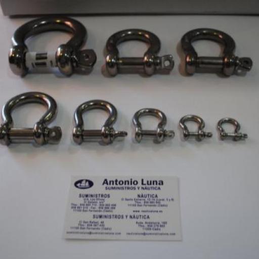 Grillete lira de acero inoxidable AISI-316