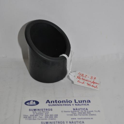 Goma inclinada para portarcañas de 40mm Imnasa
