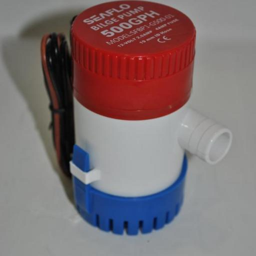 Bomba de achique sumergible SEAFLO 12V 500GPH(1.890 l/h)