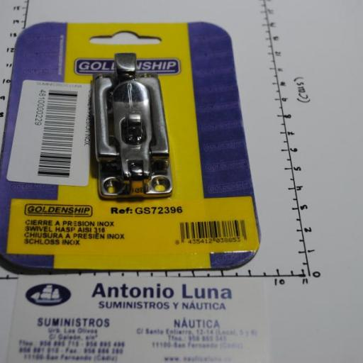 Cierre a presión inox-316 de 100 x 30 mm Goldenship