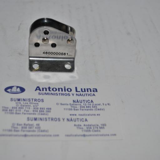Polea simple vertical para mástil inoxidable para cabo de 8 mm Marsal
