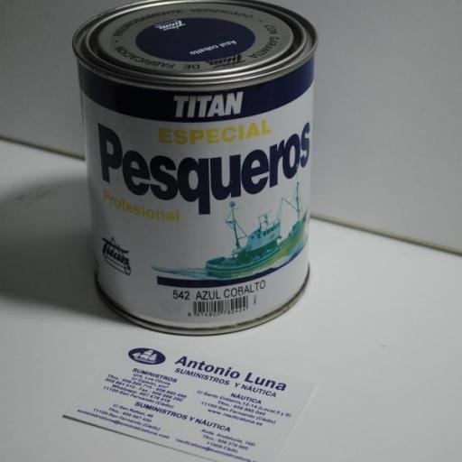 Esmalte Pesqueros azul cobalto 750 ml Titan