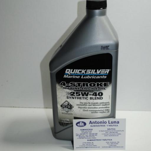 Aceite de motor de 4T sintético 25W-40 de 1 litro Quicksilver [1]