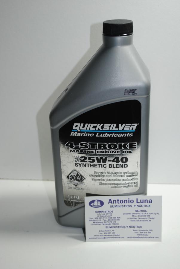 Aceite de motor de 4T sintético 25W-40 de 1 litro Quicksilver