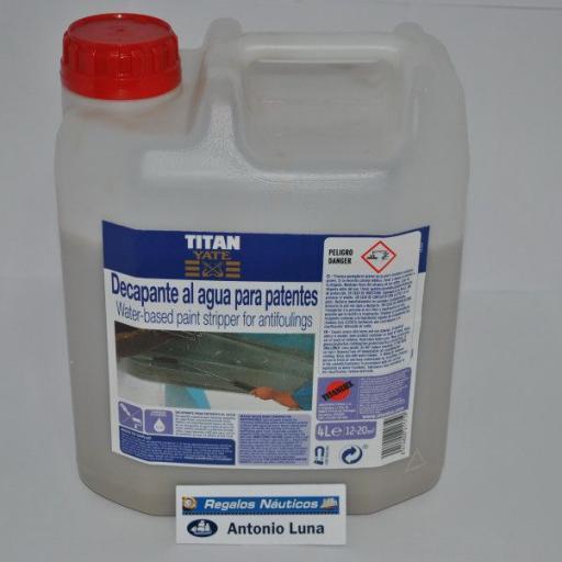 Decapante al agua para patentes 4lt Titan Yate