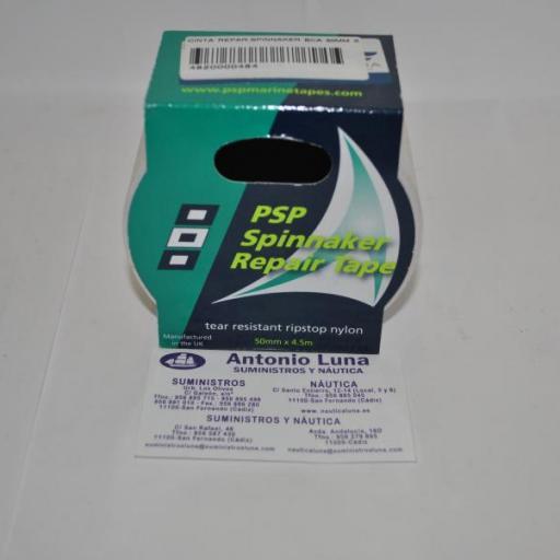 Cinta de reparación de spinnaker blanca 4,5mt x 50mm PSP Marine Tapes