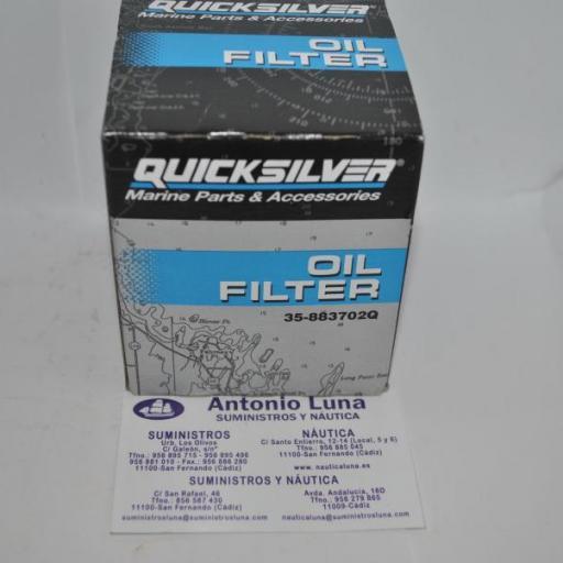 Filtro de aceite original Quicksilver 35-883702Q Mercruiser