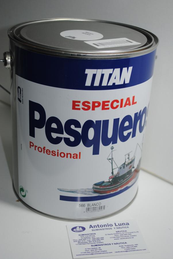 Esmalte Pesqueros blanco 4 lts Titan