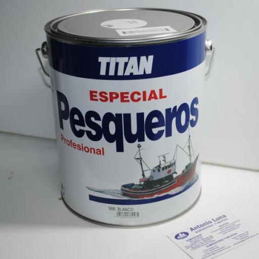Esmalte Pesqueros blanco 4 lts Titan [3]