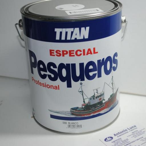 Esmalte Pesqueros blanco 4 lts Titan [2]