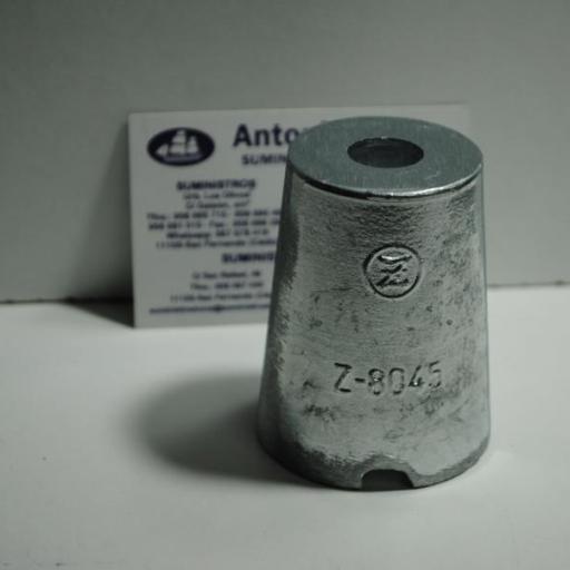 Ánodo de zinc para punta de eje Sole de 45-50mm Zineti