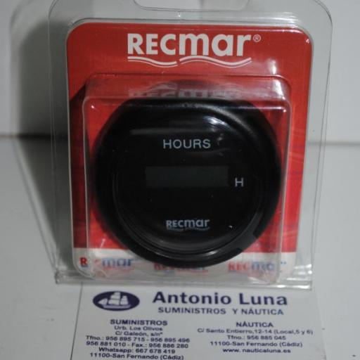 Reloj cuenta-horas negro RecMar
